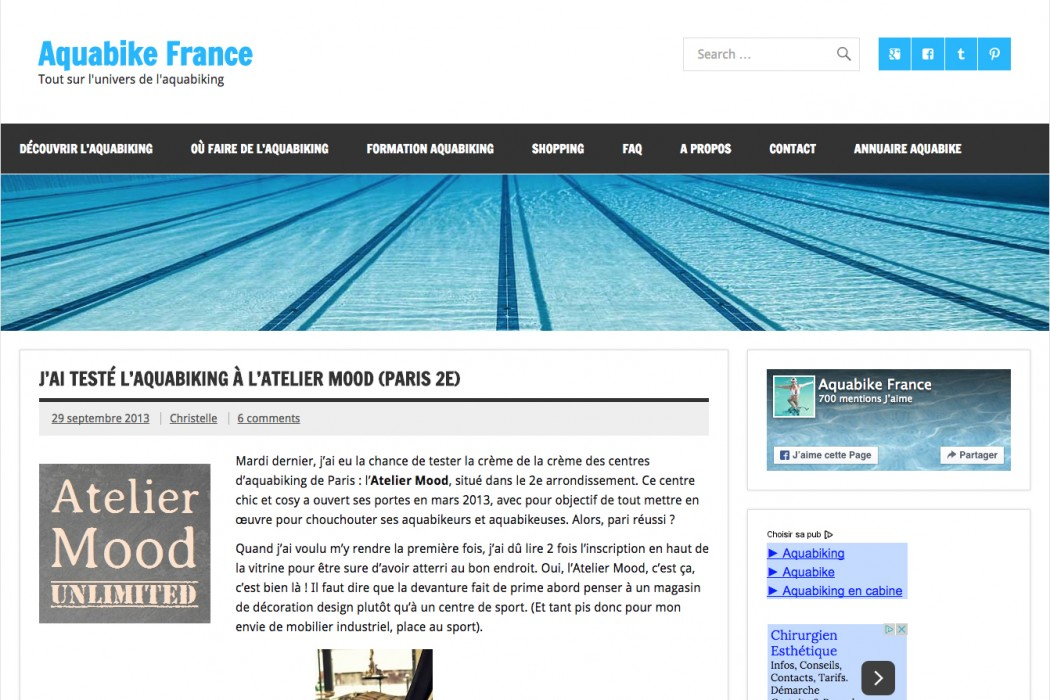 Aquabike en piscine elle l 39 a test pour aquibike france for Aquabike piscine paris