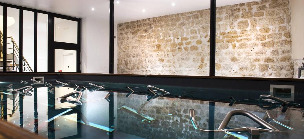 Bassin d'aquabikes